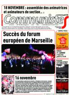 Journal CommunisteS n°701 15 novembre 2017