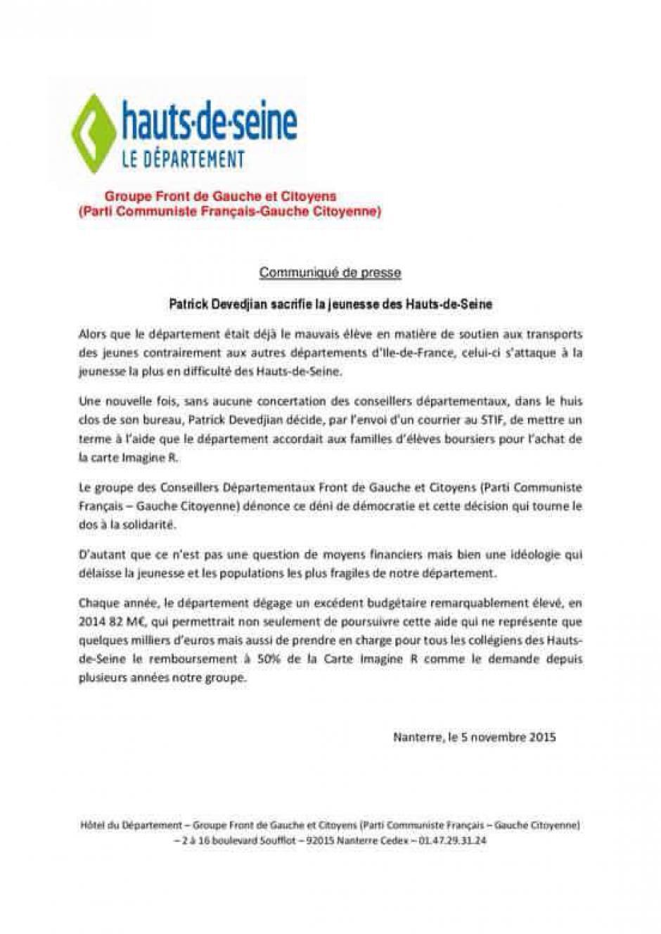 Les Hauts-de-Seine, département le plus riche de France mais surtout le plus inégalitaire !
