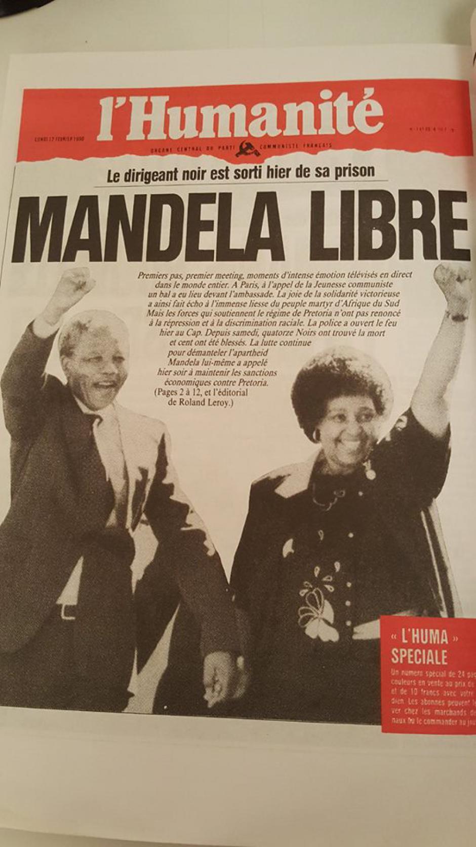 Libération de Mandela, le 11 février 1990